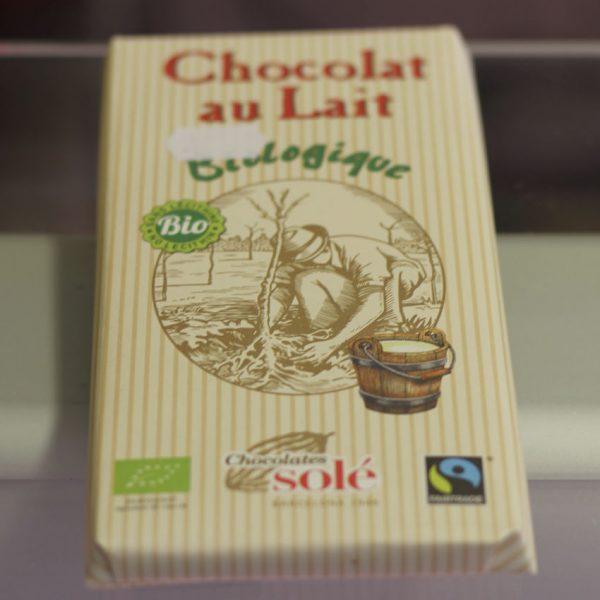 Chocolat au lait biologique Sole