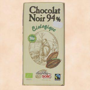 Chocolat noir biologique Sole