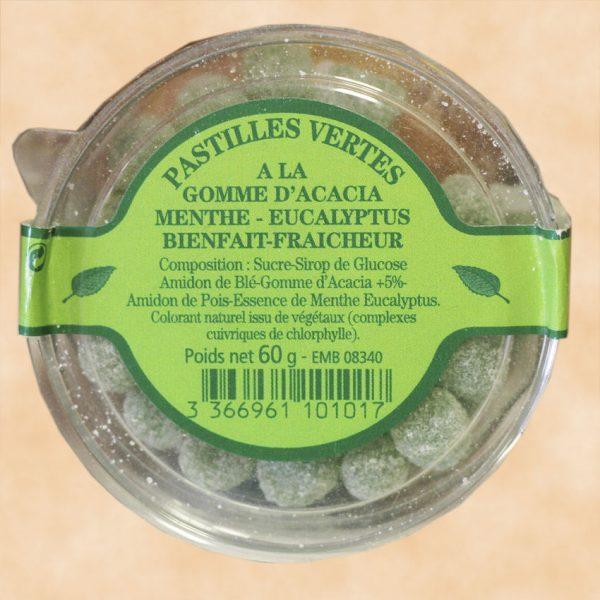 Pastilles Vertes à la gomme d'acacia