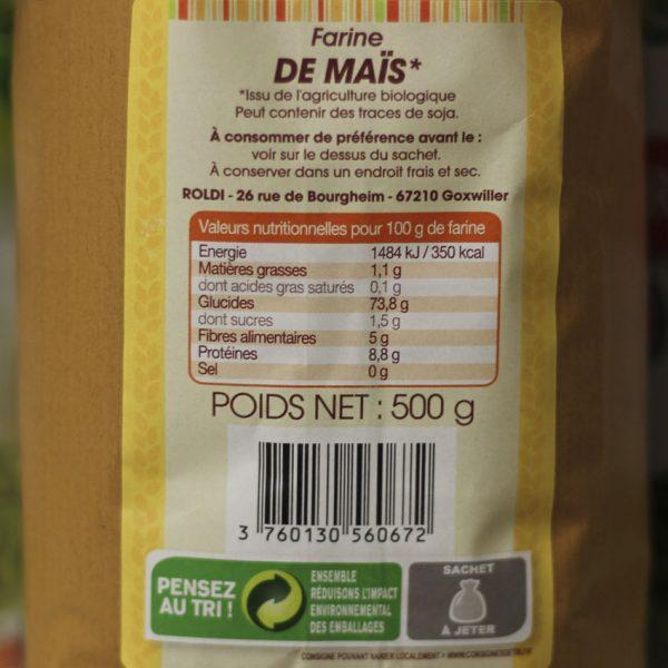 Farine de maïs biologique