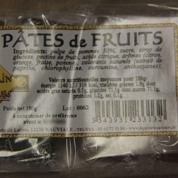 Pâtes de fruits Le Pèlerin des Saveurs