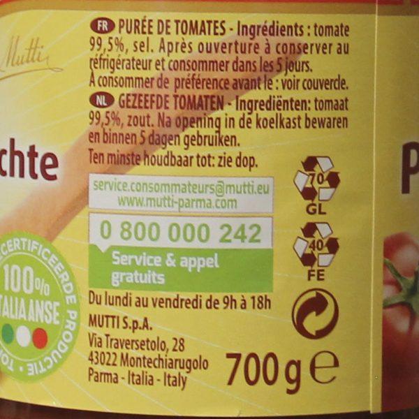 Purée de tomates douce Mutti
